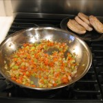 Mirepoix with pork chops