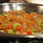 Mirepoix just starting